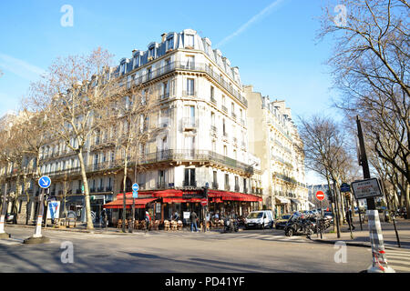 PARIS-FRANCE-JAN 18, 2017: Paris is a city with cafes in every corner - Stock Photo