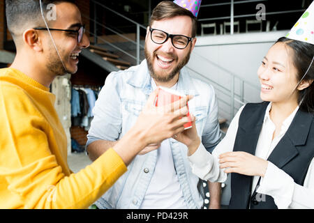 Celebrating Birthday in Office - Stock Photo