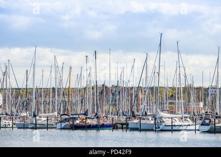 marina in Heiligenhafen, Schleswig-Holstein, Germany - Stock Photo