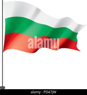 Bulgaria flag, vector illustration - Stock Photo