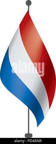 Netherlands flag, vector illustration - Stock Photo