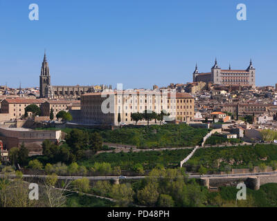 Panoramic view of the historic medieval city of Toledo Spain