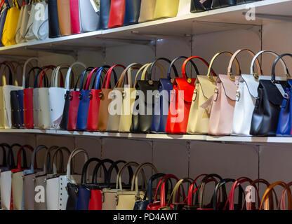 Handbags on sale in Rome Italy - Stock Photo