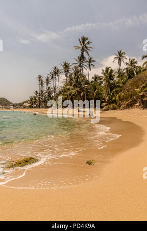 A view in Tayrona National Park in Colombia - Stock Photo