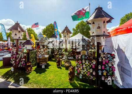An assortments of colourful dovecots at the 2018 Malvern RHS Spring Show, Worcestershire, England, UK - Stock Photo