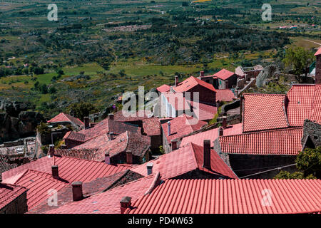 Monsanto village view with the bell tower, Portugal - Stock Photo