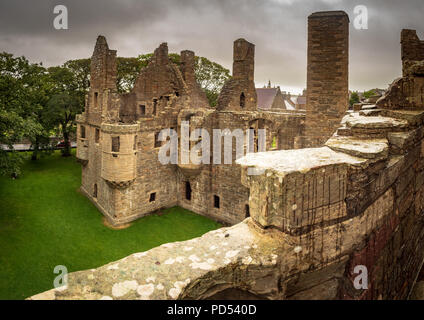The Earl's Palace, Kirkwall, Orkney - Stock Photo
