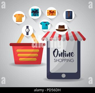 online shopping card - Stock Photo