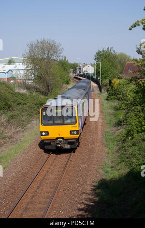 A Northern rail class 144 pacer train at Dodworth railway station on the single track Penistone line - Stock Photo