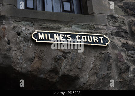 EDINBURGH, SCOTLAND - AUGUST 03, 2018: Busy Streets of Edinburgh, Scotland, UK. The most iconic streets in Scotland and major tourist attractions with - Stock Photo
