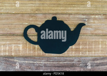 Teapot shape on the wall - Stock Photo