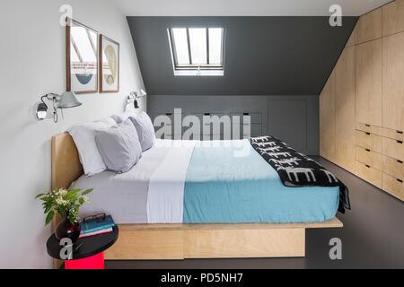 Inbuilt storage in minimal and contemporary bedroom