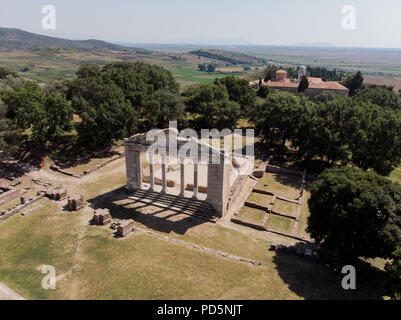 Apollonia was an ancient Greek city located on the bank of the Aous river, modern-day Albania.  Apollonia was founded in 588 BCE by Greek colonists. - Stock Photo