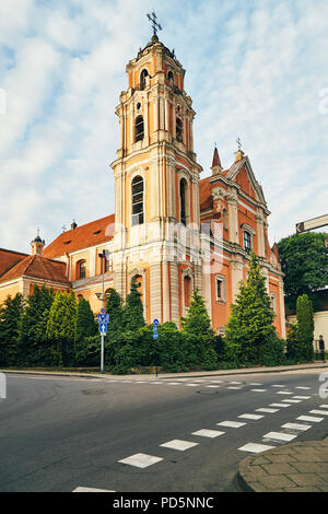 View of the old church in the center of Vilnius, Lithuania - Stock Photo