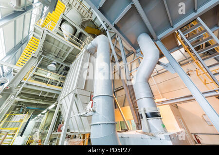Manufacturing factory, wide-focus lens - Stock Photo