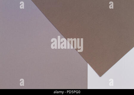 Color papers geometry composition background with gray and brown tones - Stock Photo