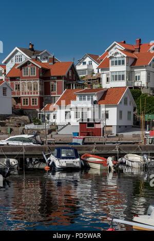 Mollosund in Sweden in summer - Stock Photo