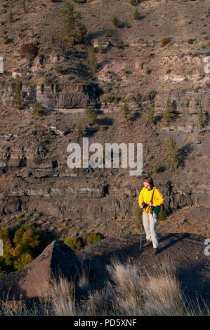 View from Scout Camp Trail, Steelhead Falls Wilderness Study Area, Deschutes Wild and Scenic River, Oregon - Stock Photo