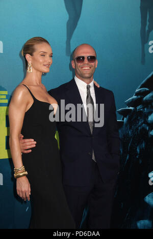 Rosie Huntington-Whiteley, Jason Statham  08/06/2018 The U.S. Premiere of 'The MEG' held at the TCL Chinese Theater in Los Angeles, CA Photo by Izumi Hasegawa / HollywoodNewsWire.co - Stock Photo