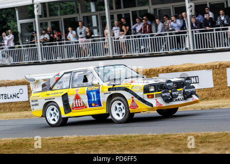 A 1985 Audi Sport Quattro S1 E2 Car At The Goodwood Festival Of