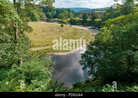 Bolton Abbey. West Yorkshire. River Wharfe. - Stock Photo