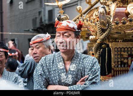 Japan, Honshu island, Kanto, Tokyo, the Kanda Matsuri. - Stock Photo