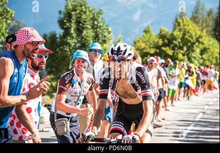Laurens Ten Dam, Dutch Corner, Alpe d'Huez Tour De France 2018 - Stock Photo