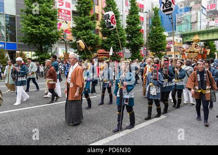 Japan, Honshu island, Kanto, Tokyo, festival, the Kanda matsuri. - Stock Photo