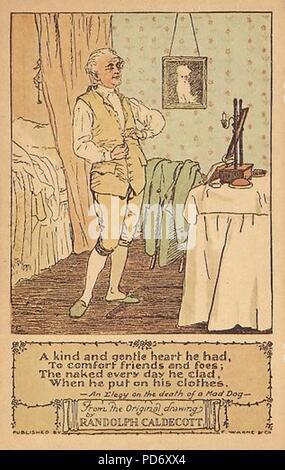 An Elegy on the Death of a Mad Dog Postcard A6. - Stock Photo