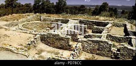 Anasazi Heritage Center - CO - BLM - Escalante Pueblo. - Stock Photo