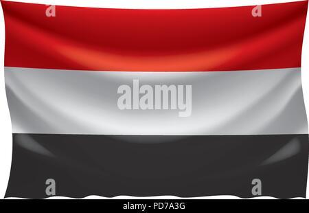 Yemeni flag, vector illustration - Stock Photo