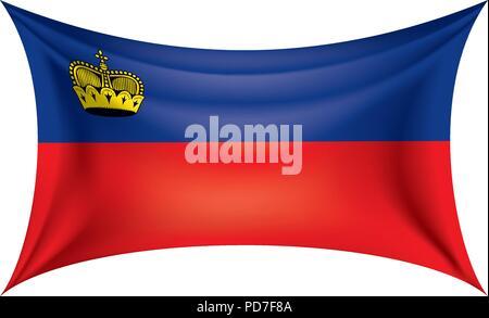 liechtenstein flag, vector illustration - Stock Photo