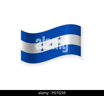 The Flag Of Honduras. Country in Central America. Vector illustration. National symbol - Stock Photo