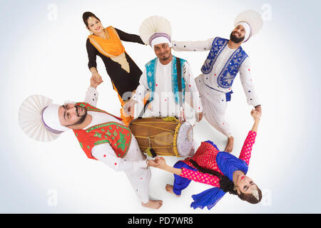 Sikh People Dancing - Stock Photo