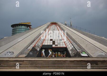 Pyramid of Tirana, Albania - Stock Photo