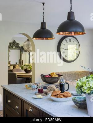 a large kitchen island unit stock photo 23728260 alamy. Black Bedroom Furniture Sets. Home Design Ideas