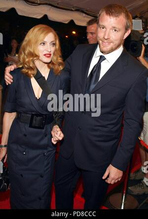 American singer, songwriter, actress, and businesswoman MADONNA turns 60 on August 16, 2018. PICTURED: September 11, 2005 - Toronto, Ontario, Canada - MADONNA accompanies husband, director GUY RITCHIE, to the world premiere of Ritchie's film, 'Revolver, ' during the Toronto International Film Festival. Credit: Brent Perniac/AdMedia/ZUMA Wire/Alamy Live News - Stock Photo