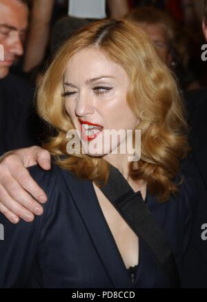 American singer, songwriter, actress, and businesswoman MADONNA turns 60 on August 16, 2018. PICTURED: September 11, 2005 - Toronto, Ontario, Canada - MADONNA at the world premiere of husband Guy Ritchie's film, 'Revolver, ' during the Toronto International Film Festival. Credit: Brent Perniac/AdMedia/ZUMA Wire/Alamy Live News - Stock Photo