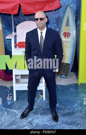 Los Angeles, California. 6th Aug, 2018. Jason Statham attending 'The Meg' premiere at the TCL Chinese Theatre on August 6, 2018 in Los Angeles, California. | Verwendung weltweit Credit: dpa/Alamy Live News - Stock Photo