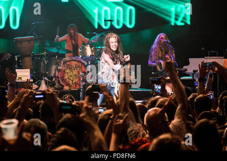 Steven Tyler performing at 02 Academy The Forum, Kentish Town on 7th August 2018 - Stock Photo