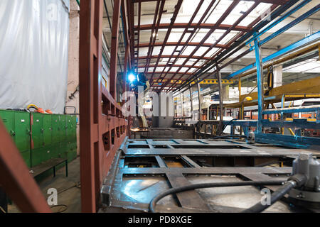 Tram production manufacture - Stock Photo