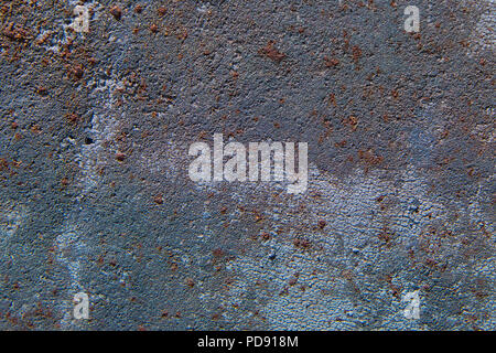 Background texture of corroded metal with rust, blue and gray color tones - Stock Photo