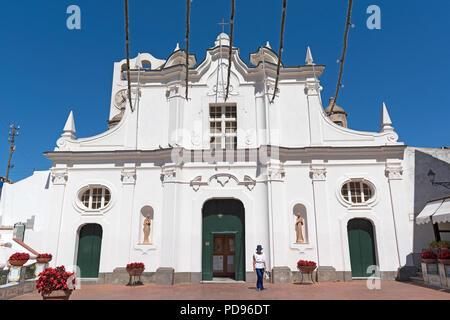 roman catholic church santa sofia, anacapri, capri, campania, italy. - Stock Photo
