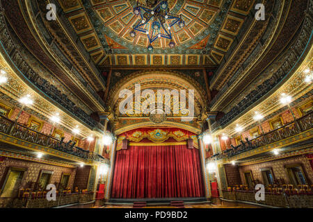 Interior of the historic Juarez Theater in Guanajuato, Mexico. - Stock Photo