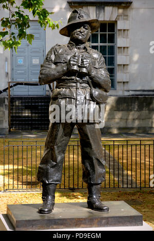 Statue of Field Marshall Montgomery in Whitehall, London - Stock Photo