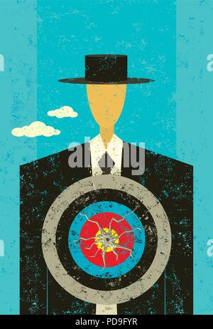 Target on Chest. A man with a target on his chest. - Stock Photo