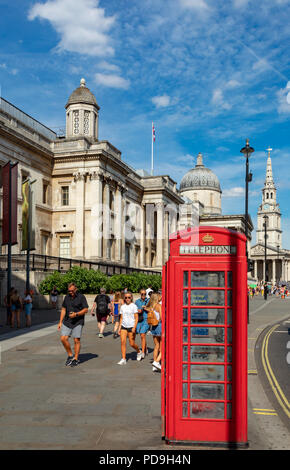 London England August 04, 2018 The National Gallery, in Trafalgar Square - Stock Photo