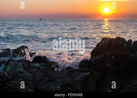 Water splash on sunset by Bruncesco - Stock Photo