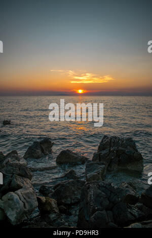 Sunset in Croatia (vertical) by Bruncesco - Stock Photo