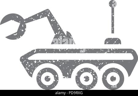 Grunge icon - Space rover - Stock Photo